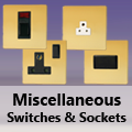 Screwless Polished Brass - Miscellaneous Switches & Sockets