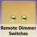 Screwless Polished Brass - Remote Dimmer Switches
