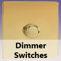 Screwless Polished Brass - Standard Dimmer Switches