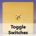 Screwless Polished Brass - Toggle Switches