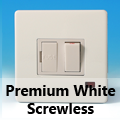 Screwless Premium White Fused Spur Switches