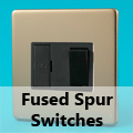 Screwless Satin Chrome - 13 Amp Fused Spur Switches