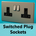 Screwless Satin Chrome - 13 Amp Plug Sockets