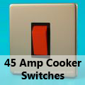Screwless Satin Chrome - 45 Amp Cooker Switches
