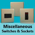 Screwless Satin Chrome - Miscellaneous Switches & Sockets