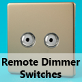 Screwless Satin Chrome - Remote Dimmer Switches