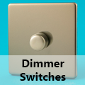 Screwless Satin Chrome - Standard Dimmer Switches