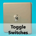 Screwless Satin Chrome - Toggle Switches