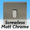 Screwless Varilight Matt Chrome Rocker Light Switches