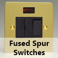Ultra Flat Brushed Brass - 13 Amp Fused Spur Switches