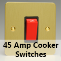 Ultra Flat Brushed Brass - 45 Amp Cooker Switches