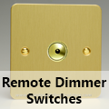 Ultra Flat Brushed Brass - Remote Dimmer Switches