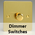 Ultra Flat Brushed Brass - Standard Dimmer Switches