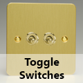 Ultra Flat Brushed Brass - Toggle Switches