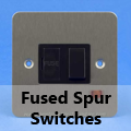 Ultra Flat Brushed Matt Chrome - Fused Spur Switches