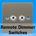 Ultra Flat Brushed Matt Chrome - Remote Dimmer Switches