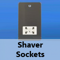 Ultra Flat Brushed Matt Chrome - Shaver Sockets