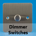 Ultra Flat Brushed Matt Chrome - Standard Dimmer Switches