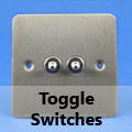 Ultra Flat Brushed Matt Chrome - Toggle Switches