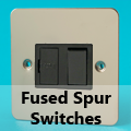 Ultra Flat Mirror Chrome - 13 Amp Fused Spur Switches