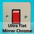 Ultra Flat Mirror Chrome 45 Amp Cooker Switches