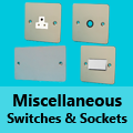 Ultra Flat Mirror Chrome - Miscellaneous Switches & Sockets
