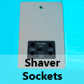 Ultra Flat Mirror Chrome - Shaver Socket