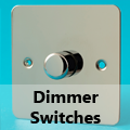 Ultra Flat Mirror Chrome - Standard Dimmer Switches