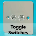 Ultra Flat Mirror Chrome - Toggle Switches