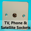 Ultra Flat Mirror Chrome - TV, Phone & Satellite Sockets