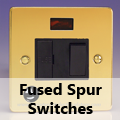 Ultra Flat Polished Brass - 13 Amp Fused Spur Switches
