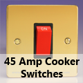 Ultra Flat Polished Brass - 45 Amp Cooker Switches
