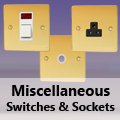 Ultra Flat Polished Brass - Miscellaneous Switches & Sockets