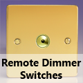 Ultra Flat Polished Brass - Remote Dimmer Switches
