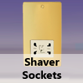 Ultra Flat Polished Brass - Shaver Socket
