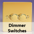 Ultra Flat Polished Brass - Standard Dimmer Switches