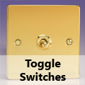 Ultra Flat Polished Brass - Toggle Switches