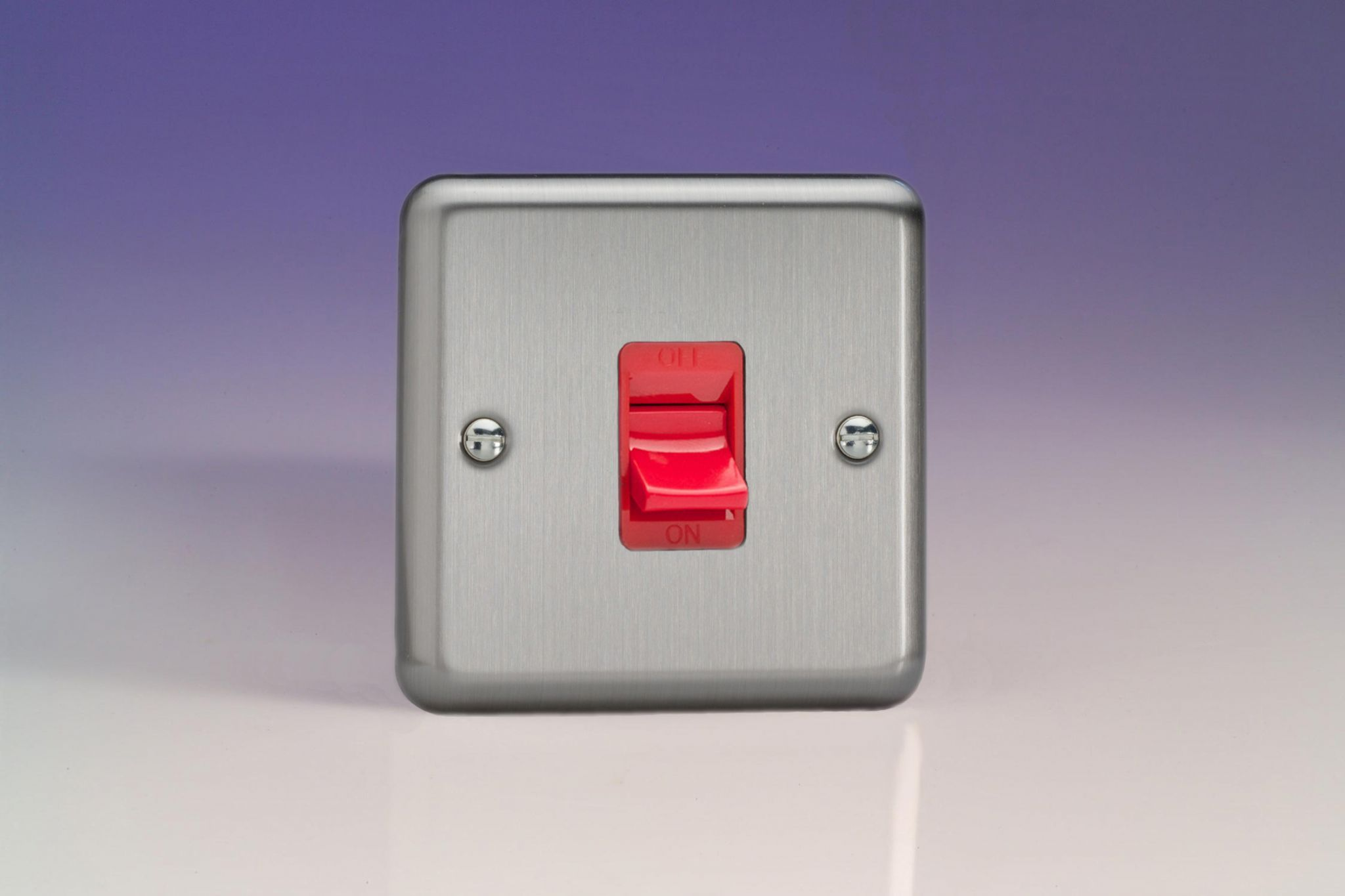 STANDARD OR LED DIMMERS LIGHT SWITCH COOKER SWITCH DOUBLE SOCKETS  GLOSS RED