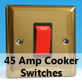 Victorian Brass - 45 Amp Cooker Switches