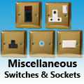 Victorian Brass - Miscellaneous Switches & Sockets