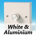 White Standard Dimmer Switches Aluminium Knob